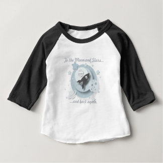 """To the Moon and Stars..."" 3/4 Length Toddler Tee"