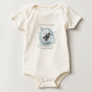 """To the Moon and Stars..."" Organic Baby Vest Baby Bodysuit"