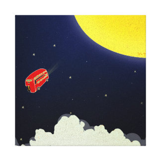 To the moon gallery wrap canvas