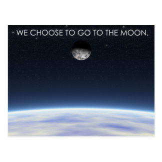 To The Moon Post Card