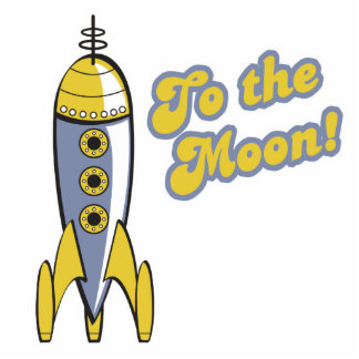 to the moon retro space rocket photo sculpture decoration