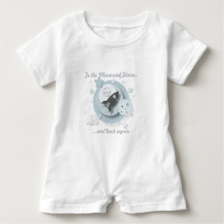"""To the Moon & Stars..."" Romper Suit Baby Bodysuit"