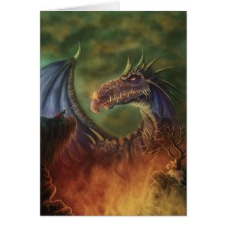 to the rescue! fantasy dragon notecard