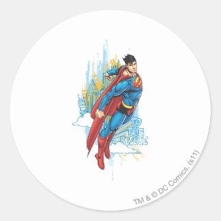 To the Rescue Round Sticker