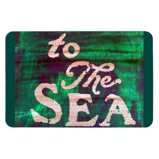 to the sea rectangular photo magnet