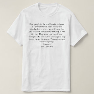 To the service industry T-Shirt