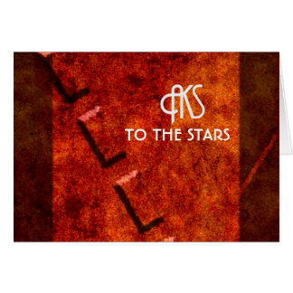 To The Stars by AKS Greeting Card