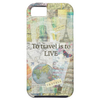 To Travel ls To Live quote Tough iPhone 5 Case