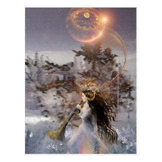 to winter solstice postcard