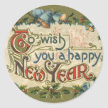 To Wish You a Happy New Year Round Sticker
