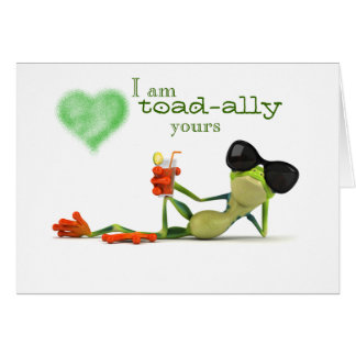 Toad-ally Yours Greeting Card