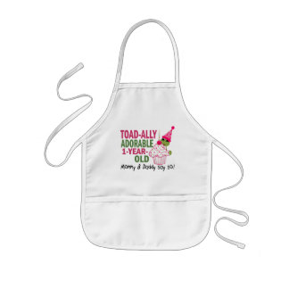 Toadally Adorable 1-Year Old Apron