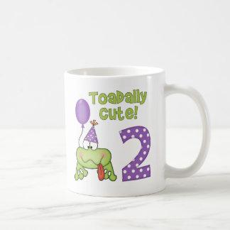 Toadally Cute 2nd Birthday Coffee Mugs