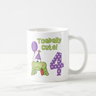Toadally Cute 4th Birthday Mugs