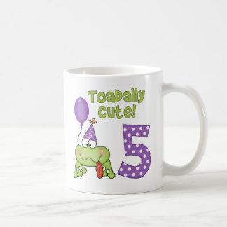 Toadally Cute 5th Birthday Coffee Mug