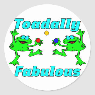 Toadally Fabulous Classic Round Sticker
