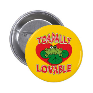 Toadally Lovable Button