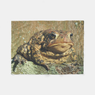 Toadly Awesome Toad Fleece Blanket