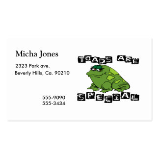 Toads Are Special Pack Of Standard Business Cards