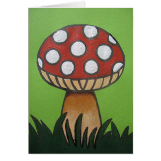 Toadstool Note Card