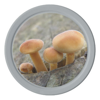 Toadstools on a Tree Trunk Poker Chip Set