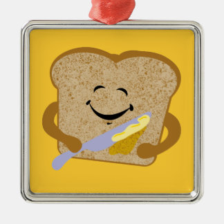 Toast And Butter Metal Ornament