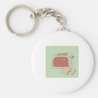 Toast And Toaster Key Chain