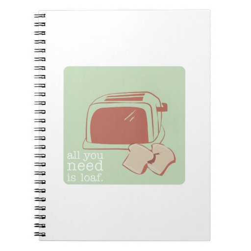 Toast And Toaster Spiral Notebook