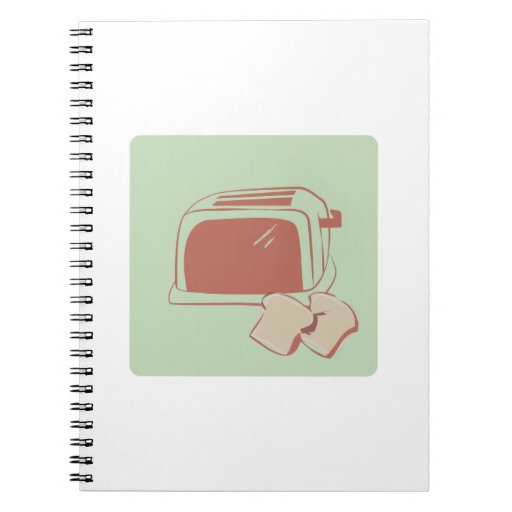 Toast And Toaster Spiral Notebooks