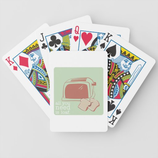 Toast And Toaster Bicycle Card Deck