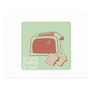 Toast And Toaster Postcard