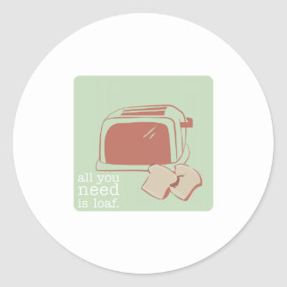 Toast And Toaster Round Stickers