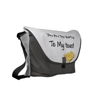 Toast Bread Love Words Courier Bag