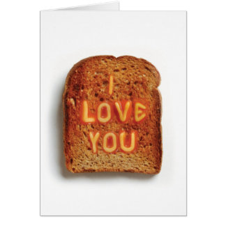 Toast  - I Love You Note Card