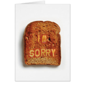 Toast  - Im Sorry Note Card