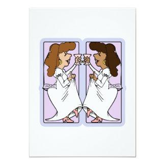 "Toast this bride 5"" x 7"" invitation card"