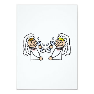 "Toast to the brides 5"" x 7"" invitation card"