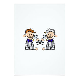 Toast to the Grooms 13 Cm X 18 Cm Invitation Card