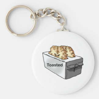 Toasted Basic Round Button Key Ring