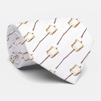Toasted Marshmallow Stick Campfire Camp S'mores Tie