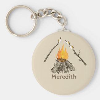 Toasted Marshmallows Campfire Keychain