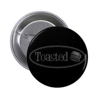 TOASTED Retro Toaster - Black Grey Pin