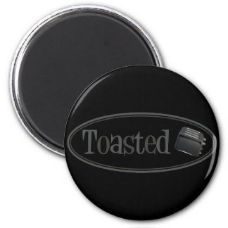 TOASTED Retro Toaster - Black Grey Refrigerator Magnet