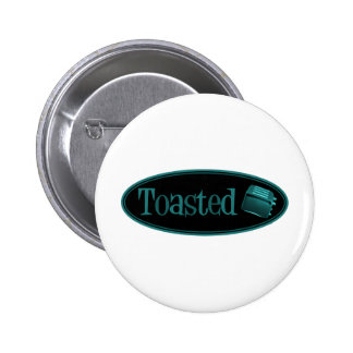 TOASTED Retro Toaster - Black Turquoise Pins