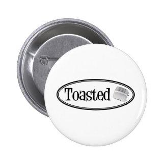 TOASTED Retro Toaster - Black White Button