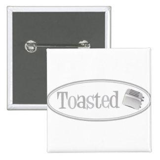 TOASTED Retro Toaster - Light Grey Pin