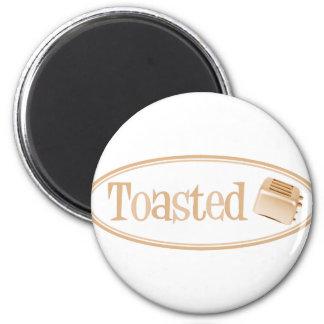 TOASTED Retro Toaster - Light Orange Refrigerator Magnets