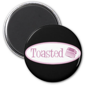 TOASTED Retro Toaster - Light Pink 6 Cm Round Magnet