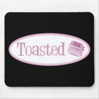TOASTED Retro Toaster - Light Pink Mouse Pad