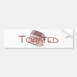Toasted - Retro Toaster - Red Bumper Sticker